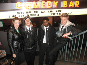 Angie Light, Jason McNicols, Stevens Gaston and Chad Biagini in Toronto for the sketch comedy festival!