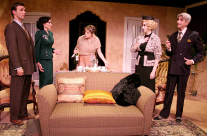 "Jeff Witzke, Stasha Surdyke, Angie Light, Annie Abrams, and Lenny Von Dohlen in ""Private Lives"""